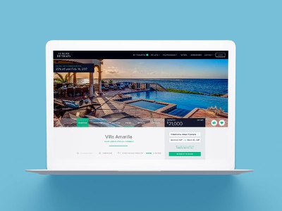 Luxury Retreats Desktop Product Detail Page vacation rental rental villa product detail pdf website web vacation wanderlust luxury travel ux