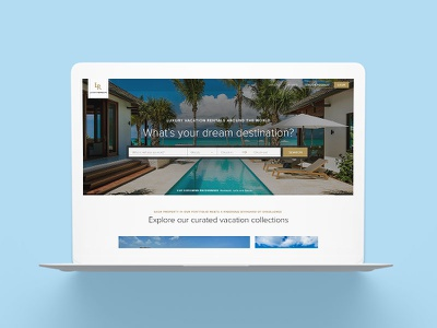 Luxury Retreats W3 Travel Website wanderlust vacation real estate vacation rental property rental villa luxury ux web website travel