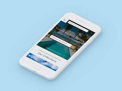 Luxury Retreats W3 Mobile Website travel website web ux luxury villa rental property vacation rental real estate vacation wanderlust