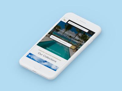 Luxury Retreats W3 Mobile Website travel website web ux luxury villa rental property vacation rental real estate vacation wanderlust