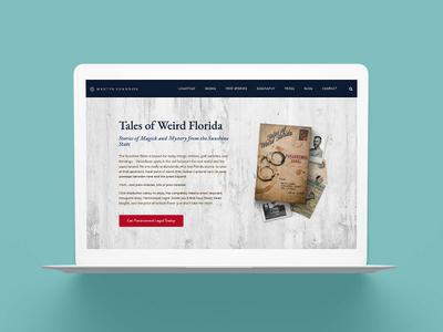 Urban Fantasy Author Website for Martin Shannon florida genre fiction urban fantasy author web branding author brand brand author platform website author website