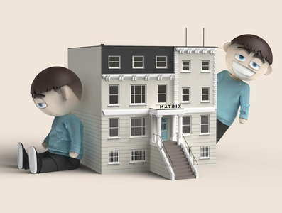 Matrix Home architecture toy figurine figure doll character toy design keyshot character design 3d rendering 3d render 3d art