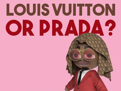 Louis Vuitton or Prada? animation music video music figure keyshot character design 3d render 3d rendering 3d animation 3d art