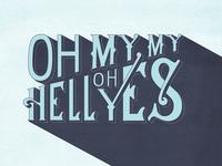 Hand Lettering Typographic Quote