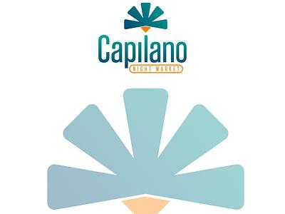 Branding for Capilano Night Market corporate identity minimal logo design branding