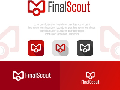 Minimal Branding for FinalSout email searching logo design corporate identity minimal branding
