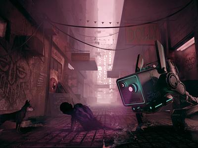 Brasil 2047 - Part VIII cyberpunk robots robot mech art digital animated blender3d animation blender illustration