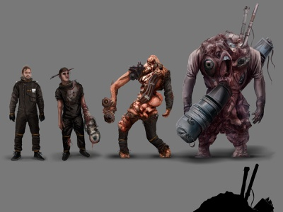 Creature designs monster creature character game animation design drawing art digital illustration