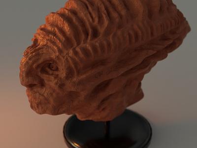 Sculpt time blender3d art digital illustration sculpture illustration clay bust statue 3d sculpture