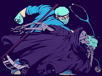 Beat Death character physician medicines medicine death comics animation art digital drawing illustration