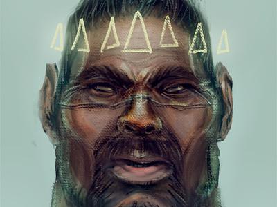 Rafa Sarmento tribute man black profile portrait painted draw animation art digital drawing illustration