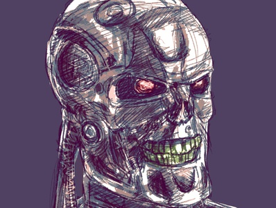 T 800 t800 terminator character draw design animation digital art drawing illustration