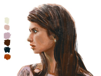 Sister / Irmã profile portrait paint painting digital art drawing illustration