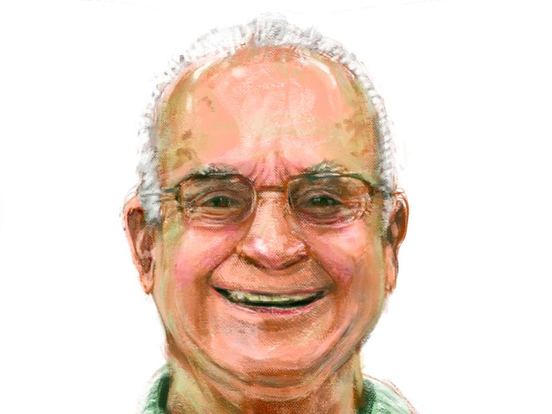 Grandpa / Vô Boga♥️ oil traiditional portait painting digital art drawing illustration