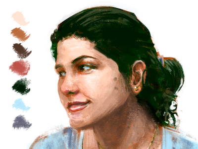 BRUNA portrait painting art digital drawing illustration