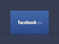 Facebook lite splash pane