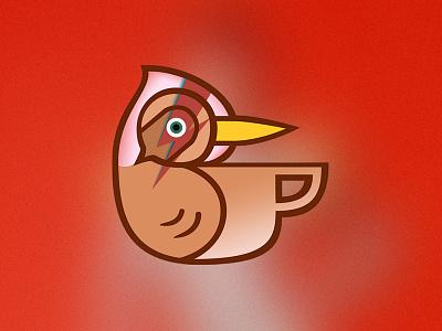 Thrasher Coffee Logo - Bowie Edition coffee logo bird thrasher david bowie