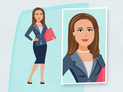 Author's Caricature sketch caricature professional business profile woman