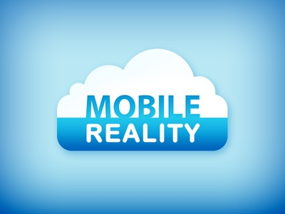 Mobile Reality Cloud Icon/Title digital hub podcast cloud blue technology mobile