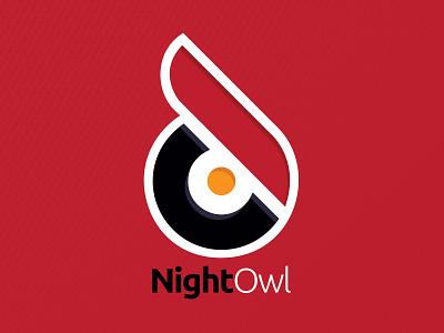 Night Owl Podcast Network Logo logo network podcast night owl red