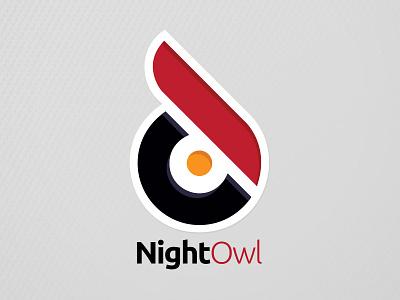 Night Owl Podcast Network Logo - Light gray network podcast logo owl night