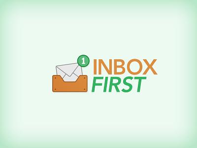 Inbox First Logo mailbox logo green notification email