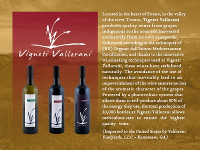 Vignetti Vallorani Wine poster label vineyard italian wine vignetti