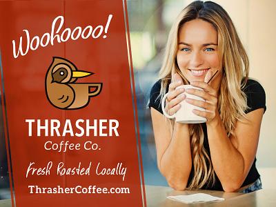 Thrasher Coffee 'Woohoooo!' Poster coffee red bird thrasher poster