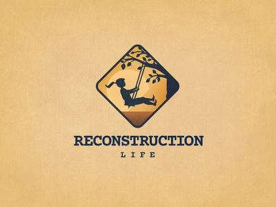 Reconstruction Life Version #1 life reconstruction icon weathered girl tree swing logo