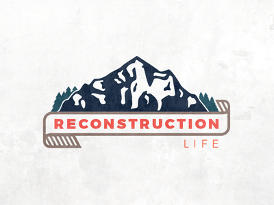 Reconstruction Life Version #2 outdoors ribbon trees mountains logo