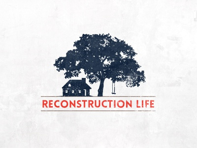 Reconstruction Life Vesion #3 swing tree house stone washed red navy blue textured life