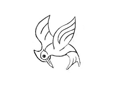 Apple Pencil Sketch sketch bird thrasher pencil apple
