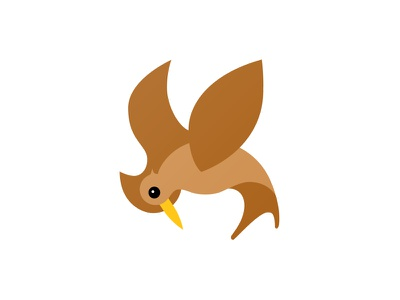 Thrasher Brand Bird Illustration brown bird thrasher illustration