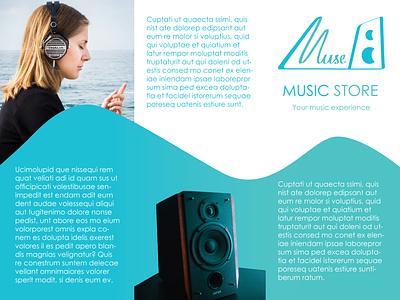 Music Store branding advertising typogaphy graphic design