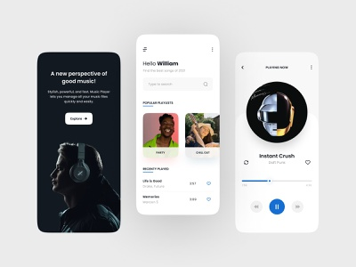 Music Player App tyopgraphy music player app product product design music player mobile design app design ux design ux ui design ui