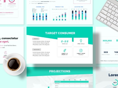 Food & Drink Pitch Deck Template pitchdeck creative colorful bright deck design sales brochure sales deck presentation powerpoint template powerpoint design powerpoint keynote template keynote design keynote pitch deck pitch