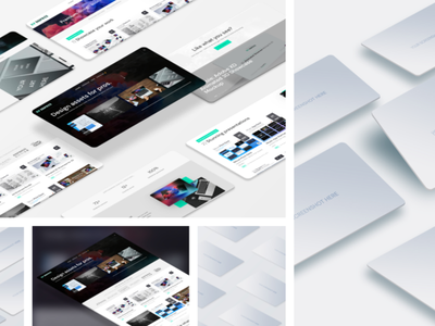 Perspective Web Mockups website design website mockup psd template creative showcase mockup psd clean mockup template mockup