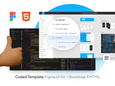 Coded Landing Page: Bootstrap 4 HTML + Figma UI landing pages landing page concept coded landing coded coded template landing page ui webpage website web designer web design landing page design bootstrap 4 landing bootstrap4 bootstrap figma figma ui landing page
