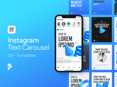 Instagram Text Carousel Template for Figma instagram template template coach course tutorial how-to carousel instagram carousel figma instagram