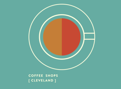 Cleveland Coffee Guide Cover branding vector visual identity graphic design