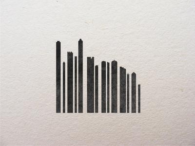 Cityscape Barcode prints linoleum print print design printmaking graphic design