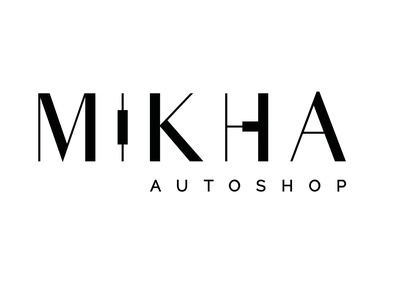 mikha logo cores heavy metal flat illustrator graphic design minimal typography branding vector logo design animation