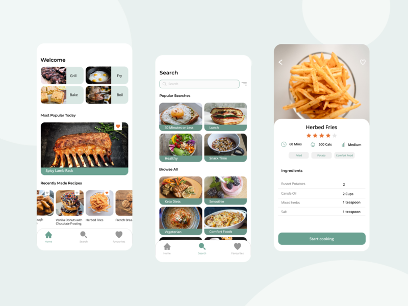 Scoup Recipe App sans serif poppins material design food design app figma creative recipe ui ux mobile app design mobile design branding app mobile design