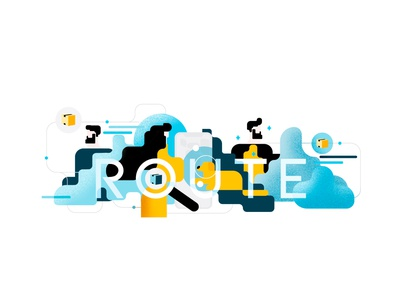 Route HQ Wall Art people route illustration wall art routeapp