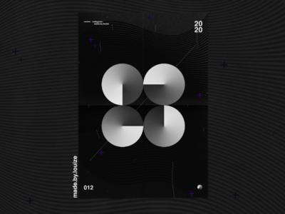 Design 012 black and white gradient graphic poster design