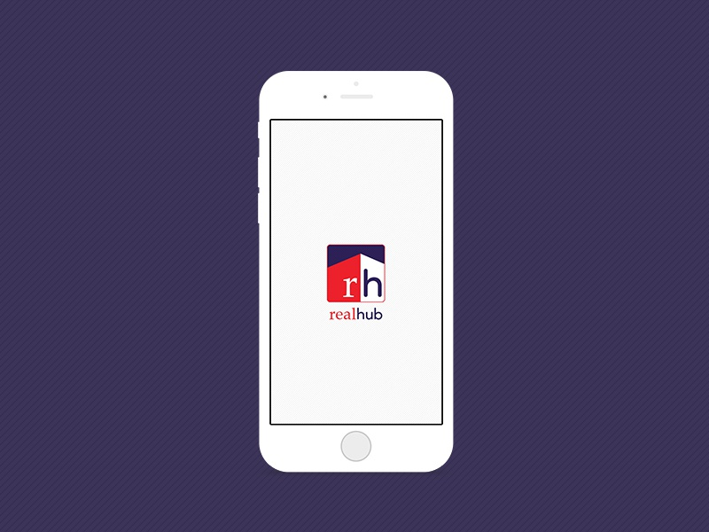 App Design - Realhub - Startup Screen realhub ux ui realty application mobile app