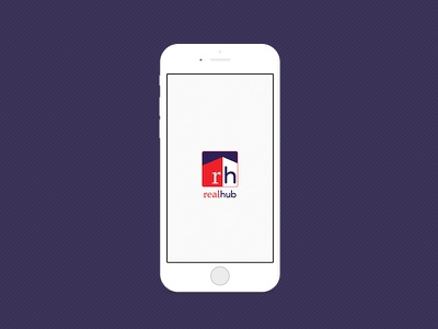 App Design - Realhub - Startup Screen realhub ux ui realty application mobile app