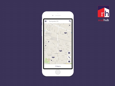 App Design - Realhub - Map Screen