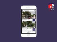 App Design - Realhub - List View Screen