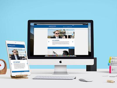 James Woods for Congress Website Design desktop mobile website spectrumexperience jameswoods